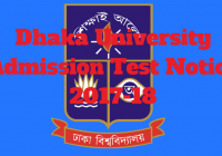 Dhaka University Admission Test Notice 2019-20 www.du.ac.bd