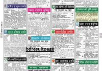 Weekly Job Newspaper 22nd September 2017 Chakrir Dak