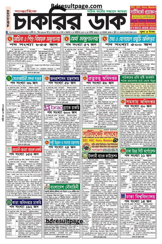 Weekly Job Newspaper 13th October 2017