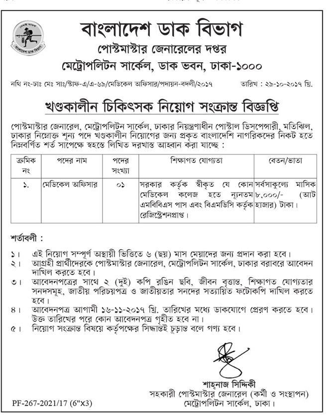 Bangladesh Post Office Job Circular 2017