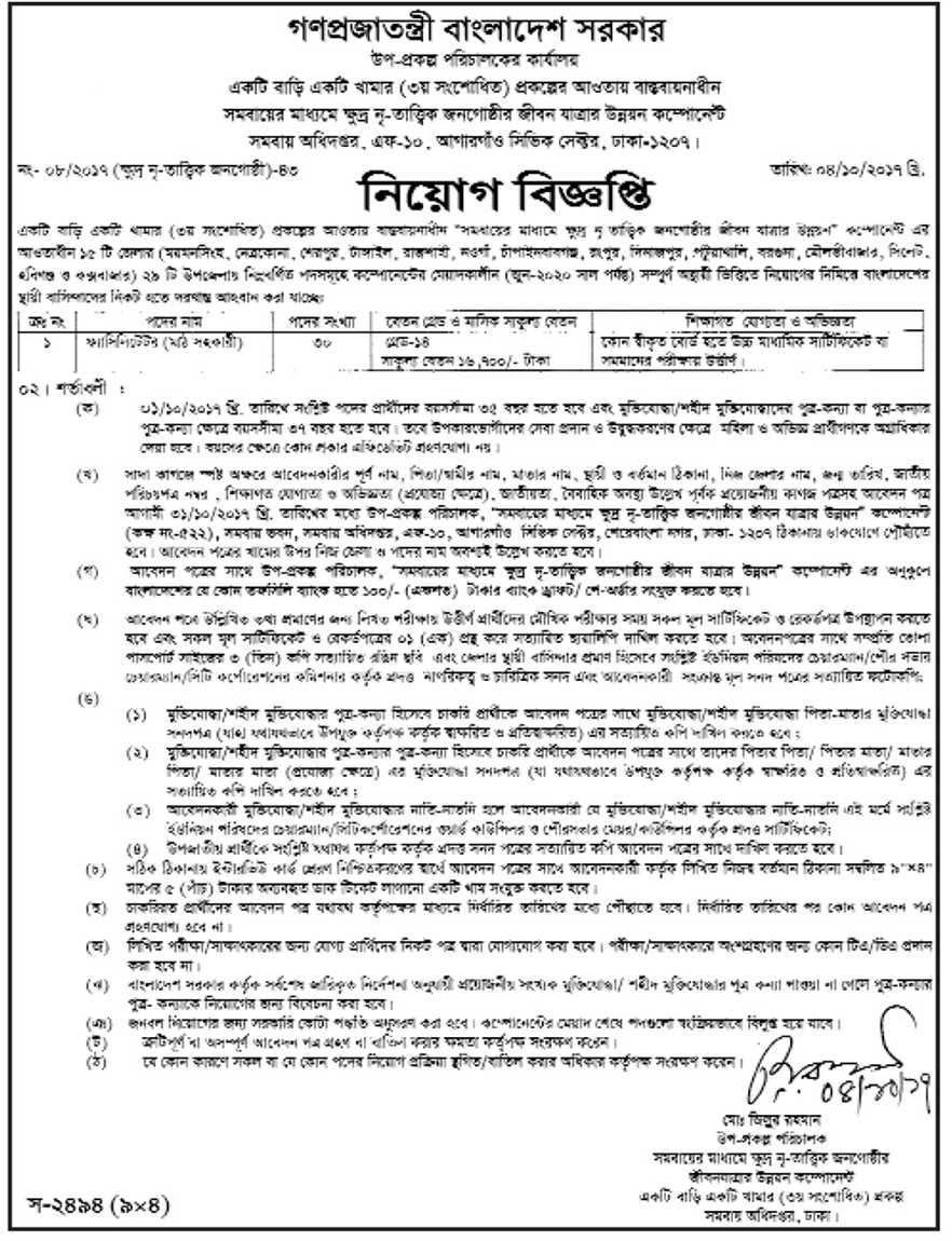 Ektee Bari Ektee Khamar Job Circular 2017