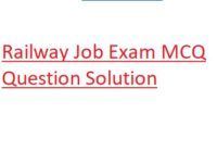 Bangladesh Railway Job Exam MCQ Question Solution 2018