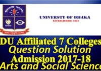 DU 7 College Admission Question Solution 2019-20 | Arts And Social Science Unit