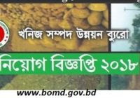 Bureau Of Mineral Development Job Circular 2018 www.bomd.gov.bd
