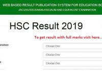 HSC Result 2019 www.eboardresults.com