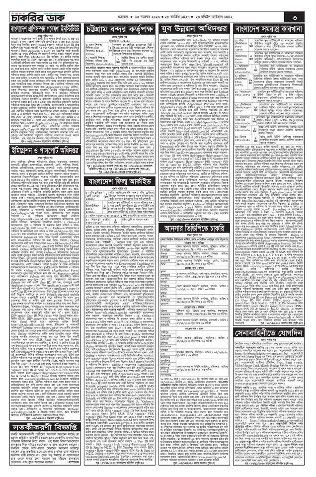 Weekly job circular 13 November 2020 page 3