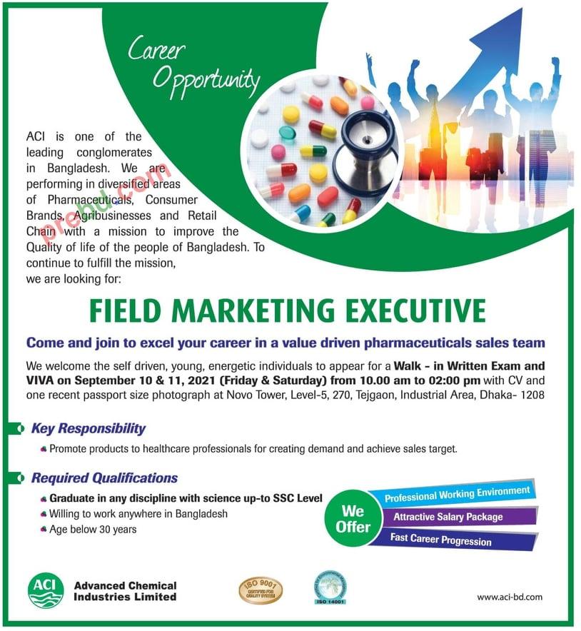 aci group limited job corcular