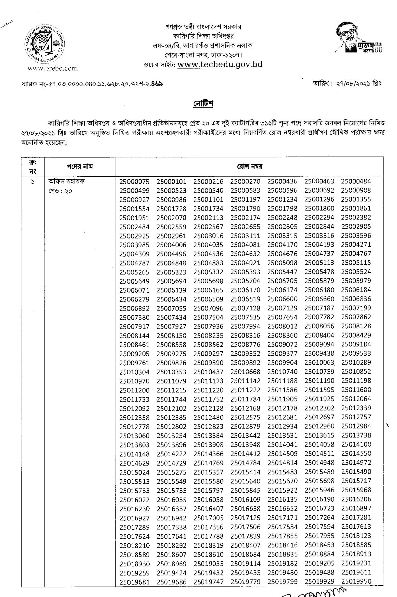 dte exam result