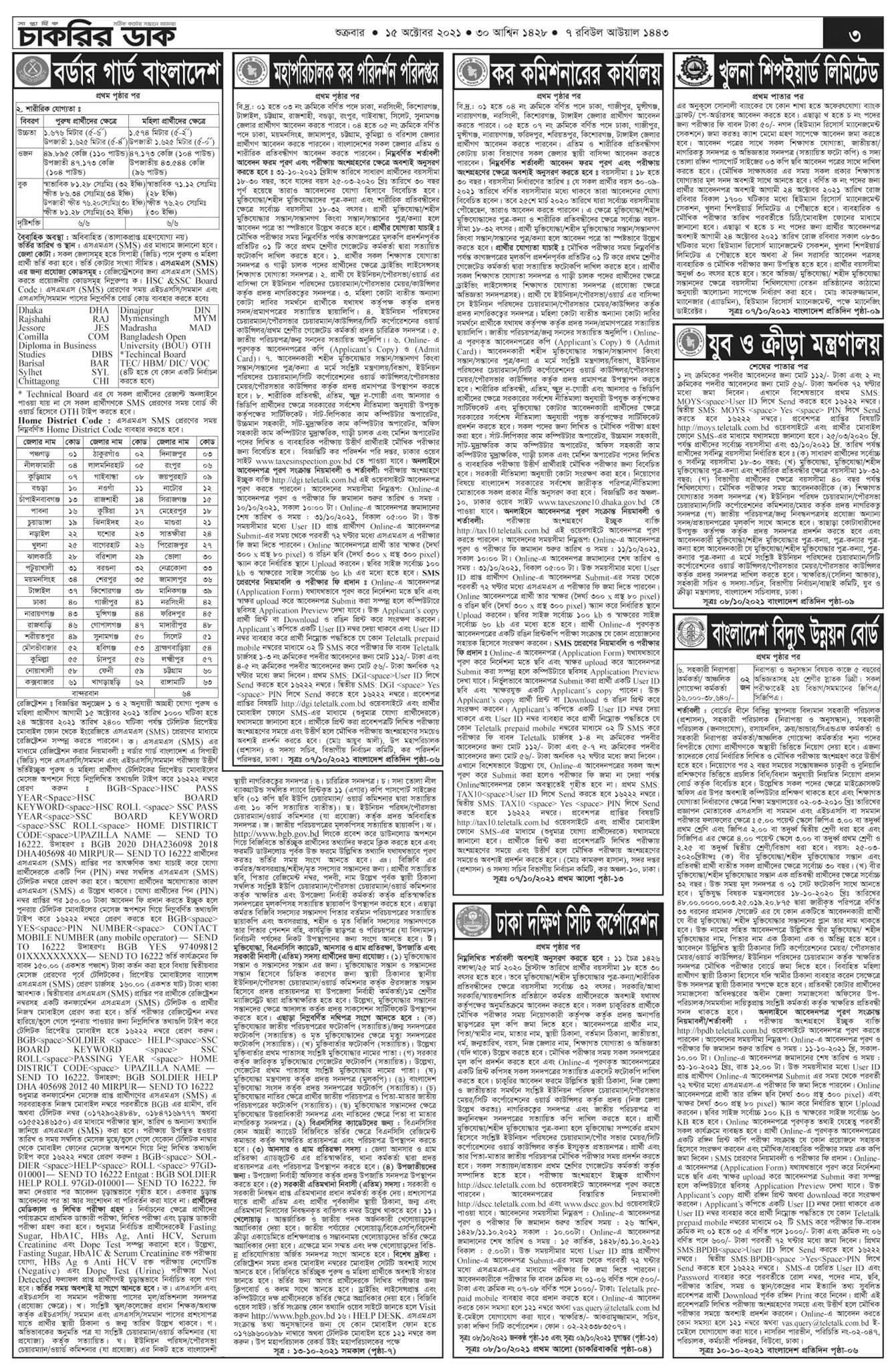 weekly job newspaper 15 October 2021